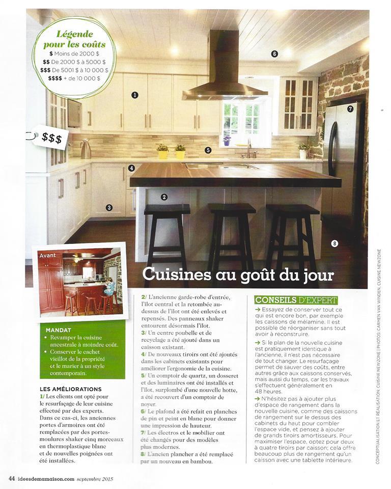 Cuisine newzone dans le magazine les id es de ma maison for Maison idees magazine